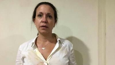 """María Corina Machado denuncia que sufrió un """"atentado planificado y ejecutado por la alcaldesa del municipio Piar"""" en Venezuela"""