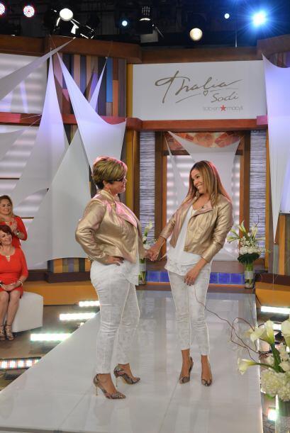 Felices mostraron lo bien que les sentaba la ropa de Thalía.