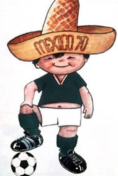 """""""Juanito"""" fue la mascota del Mundial de 1970, un personaje gordito y con..."""