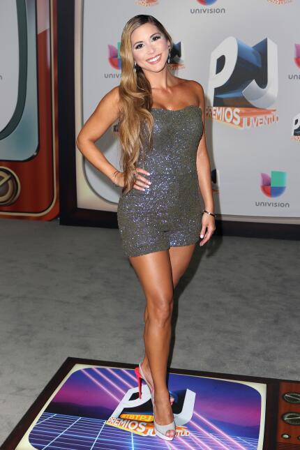 La modelo venezolana Alexandra Olavarria eligió un vestido de Sherri Hil...