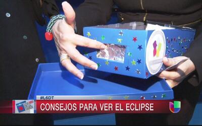 Si no tienes gafas para ver el eclipse, haz una cámara oscura con una ca...