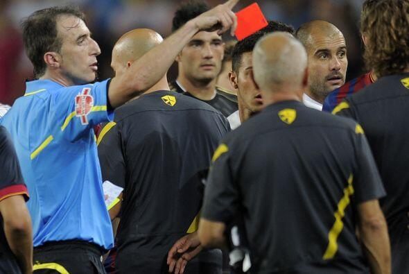 El árbitro expulsó a Marcelo inmediatamente, pero tambi&ea...