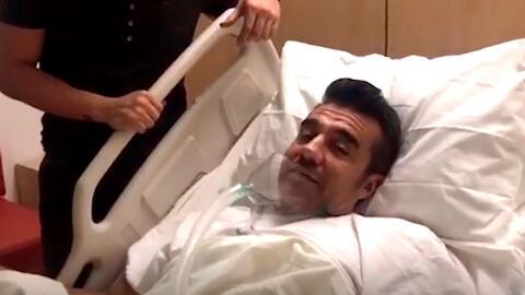 El comediante Adrián Uribe se encuentra hospitalizado.