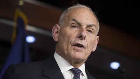 El jefe de gabinete de la Casa Blanca, John Kelly, dijo a reporteros que...