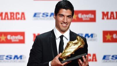 El delantero uruguayo obtuvo el galardón como mejor goleador de Europa.