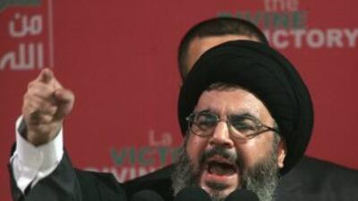Sayyed Hassan Nasrallah, líder del grupoislamista libanésHezbollah .