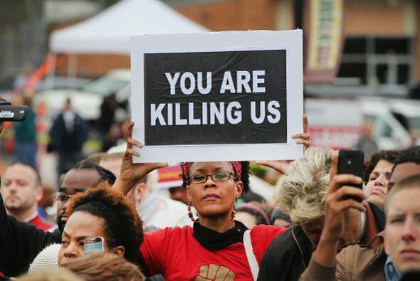 Con estas protestas expresan su indignación por el asesinato registrado...