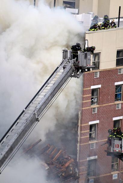 El derrumbe de dos edificios en el barrio de Harlem se debió a una explo...