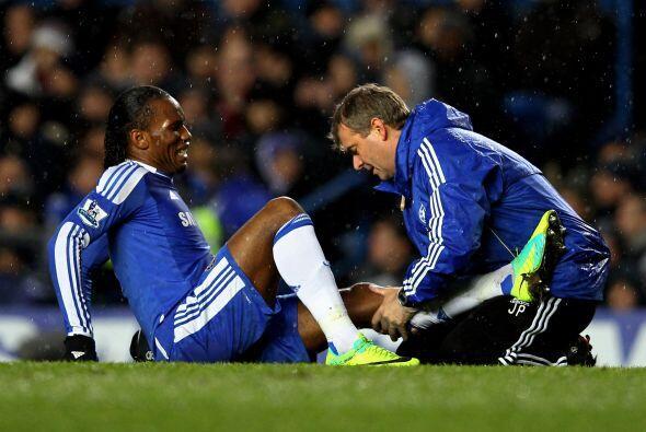 Didier Drogba sufrió algunas dolencias, pero nada de cuidado.
