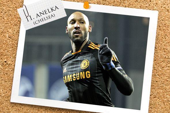Y por último, el francés Nicolás Anelka, que marcó un doblete en suelo d...