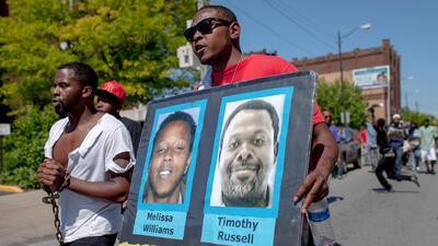 Protestas pacíficas en Cleveland tras absolución de policía