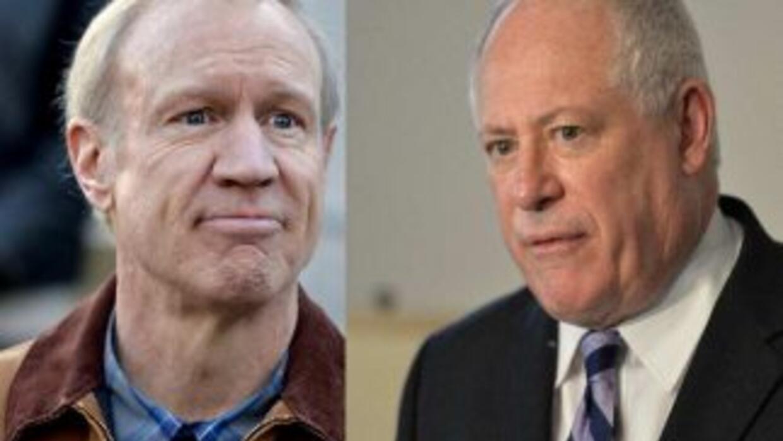El republicano Rauner se enfrentará al demócrata Quinn durante las elecc...