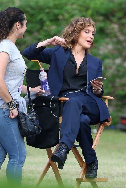 Jenni la pasó muy bien durante el día de filmación.