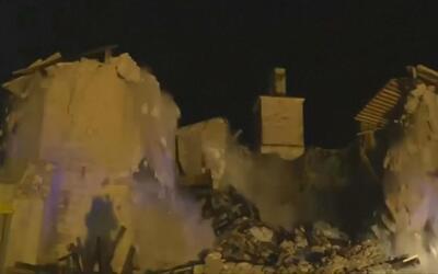 Video capta desmoronamiento de iglesia italiana del siglo XIV