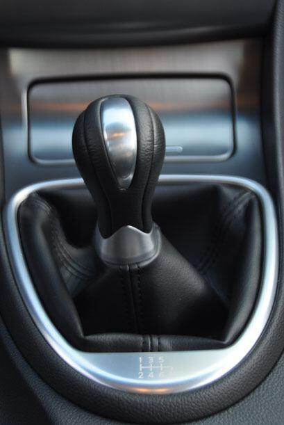 El modelo de prueba venía equipado con la transmisión manual de seis vel...
