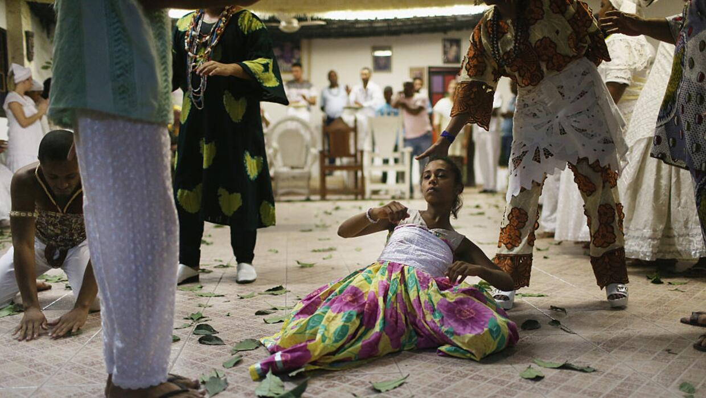 Una ceremonia de Candomblé realizada a media hora de Río de Janeiro, en...