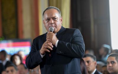 Diosdado Cabello, segundo hombre fuerte del chavismo, durante la instala...