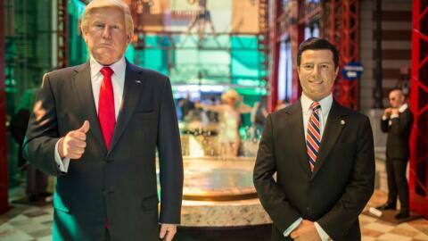 Réplicas en cera de los presidentes de Estados Unidos y Mé...