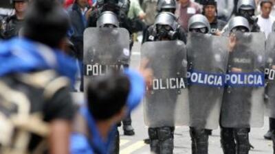 La policía pidió a las Fuerzas Armadas cedan el control de las armas en...