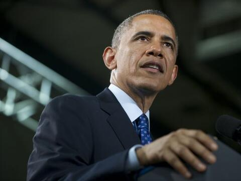 El presidente Obama está de visita en Austin, en la primera parte...