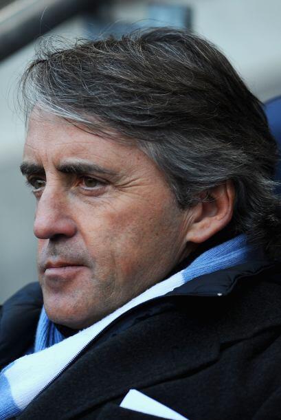 Mancini por su parte estaba concentrado en el partido.