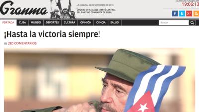 La muerte del Fidel Castro en las páginas de la prensa mundial