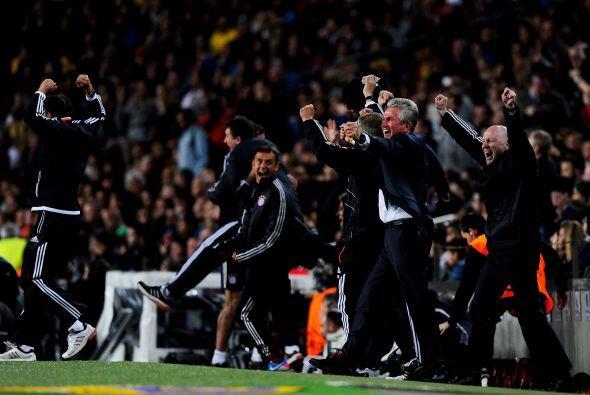 Todo el Bayern festejaba este gol sabiendo que sólo era cuestión de tiem...
