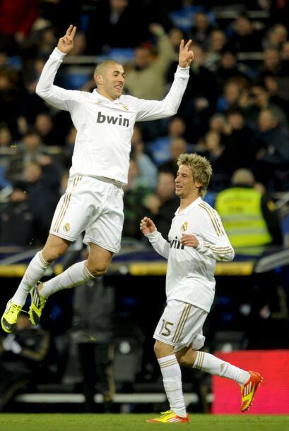 Benzema tenía que hacerse notar entre los goleadores del juego y lo hisz...