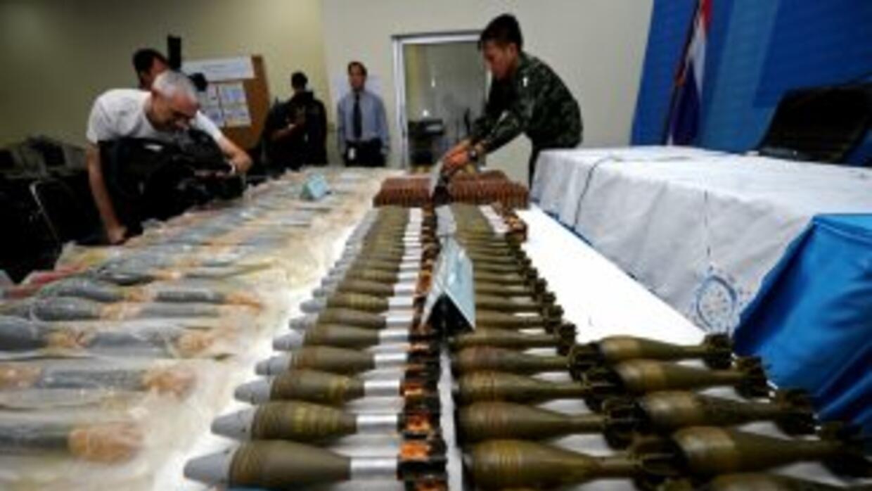 Las granadas eran parte de 18 lotes de armamento de la Fuerza Armada, y...