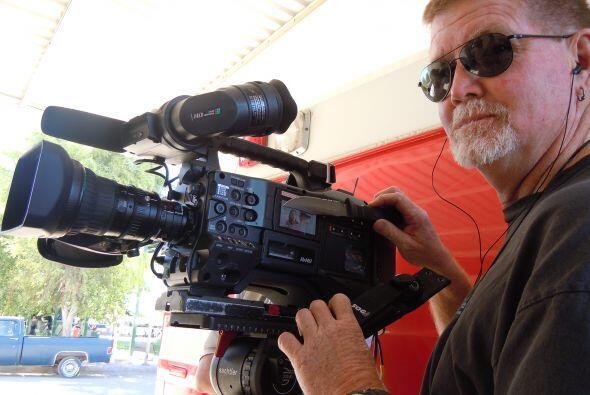 Nuestro camarógrafo, 'el gringo'.