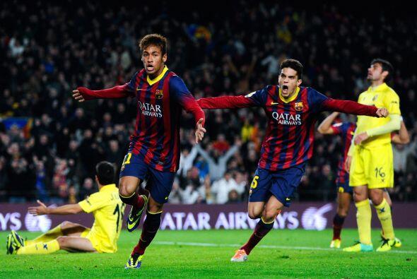 El brasileño Neymar mantuvo su racha goleadora en un partido muy complic...