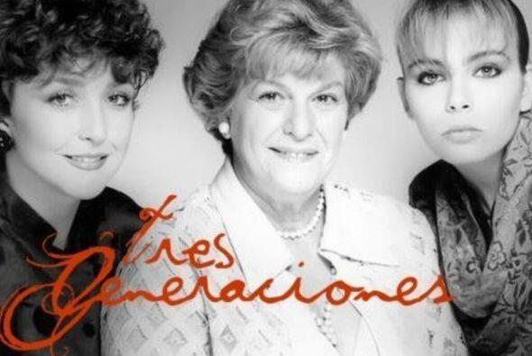 """""""Tres Generaciones"""" fue una serie que juntó a tres estrellas de distinta..."""