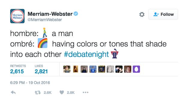 Y más explainer. Un hombre no es un ombré, que es un degradado de colores.