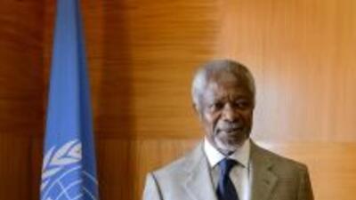 Kofi Annan, renunció como mediador en el conflicto de Siria.
