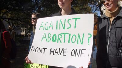 Manifestantes a favor del aborto