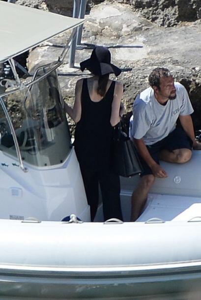 Fue durante una sesión fotográfica para promocionar la película 'Fury'.