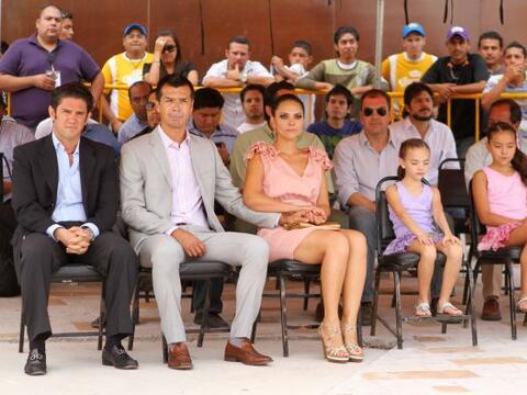 Borgetti estuvo acompañado por su esposa, su madre y sus dos hija...