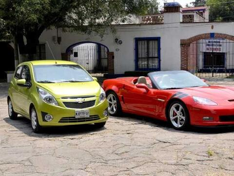 El Spark es el auto más barato de Chevrolet, y el Corvette es el...