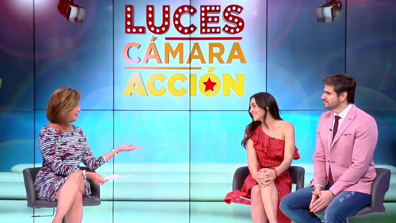 Daniel Arenas y Zuria Vega hablan del estreno de 'Mi marido tiene famili...