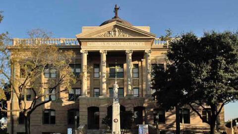 Corte del Condado Williamson en Georgetwon, Texas