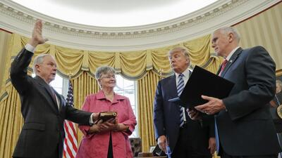 Jeff Sessions was sworn in Thursday as Attorney General