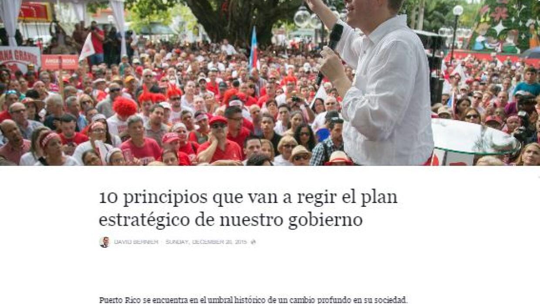 Plan estratégico presentado por David Bernier