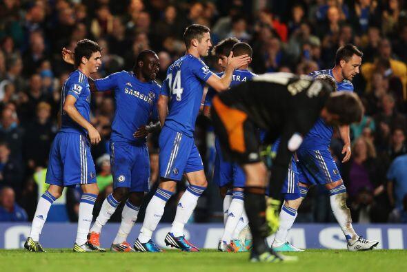 Le tocó al juvenil ictor Moses marcar el 6-0 definitivo.