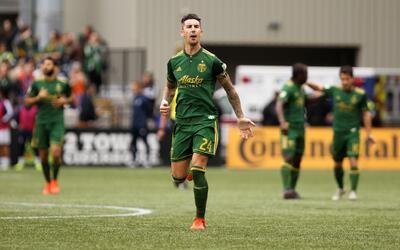 Liam Ridgewell anotó el primer gol de Portland