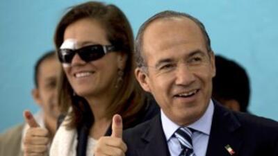 El presidente de México, Felipe Calderón. Llegó al poder en 2006.