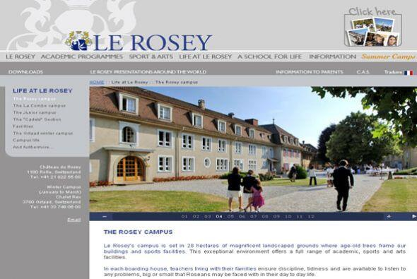 LE ROSEY- Ubicada en Gstaad, Suiza, este internado tiene entre sus prior...