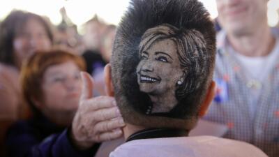 Simpatizante de Hillary Clinton en San Antonio