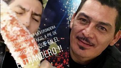 Con elotes, chile y queso: así celebró José Manuel Figueroa a México