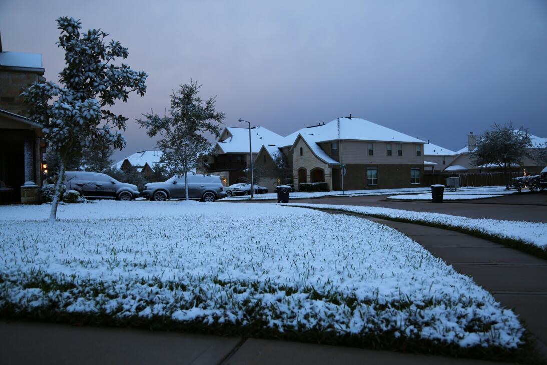 Nieve en Houston