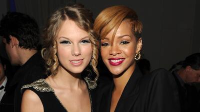 Viejos tiempos: Taylor Swift y Rihanna muy sonrientes